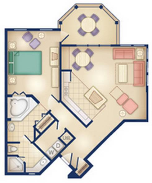 old-key-west-resort one-bedroom layout