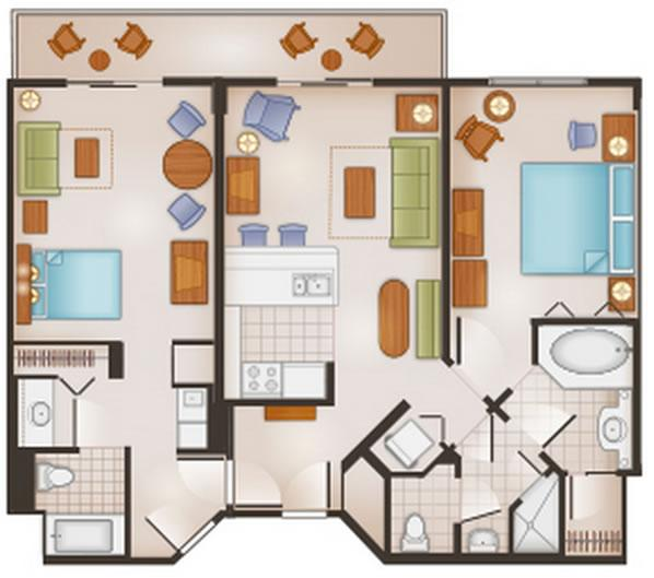 saratoga-springs-resort two-bedroom-lockoff layout