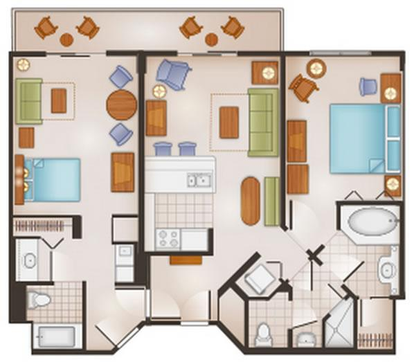 saratoga-springs-resort two-bedroom layout