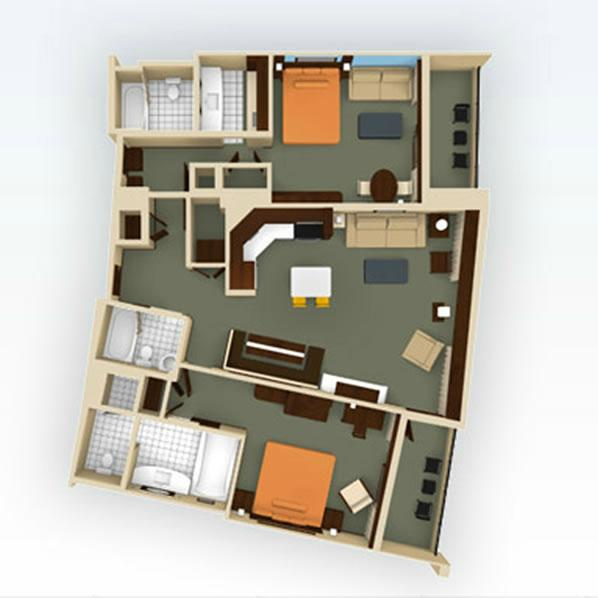 bay-lake-tower 2bedroom-lockoff layout