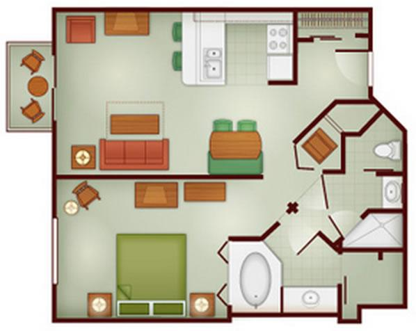 boulder ridge one bedroom layout
