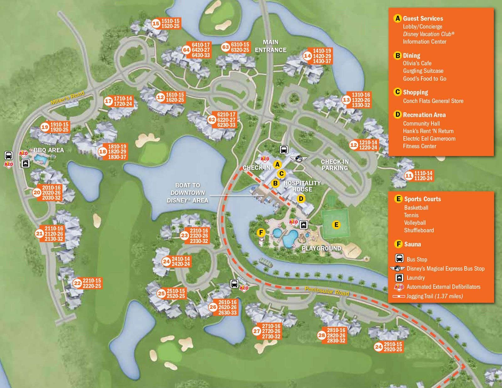 old key west resort map 2